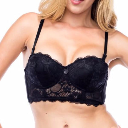 Black Lace Comfort Bra