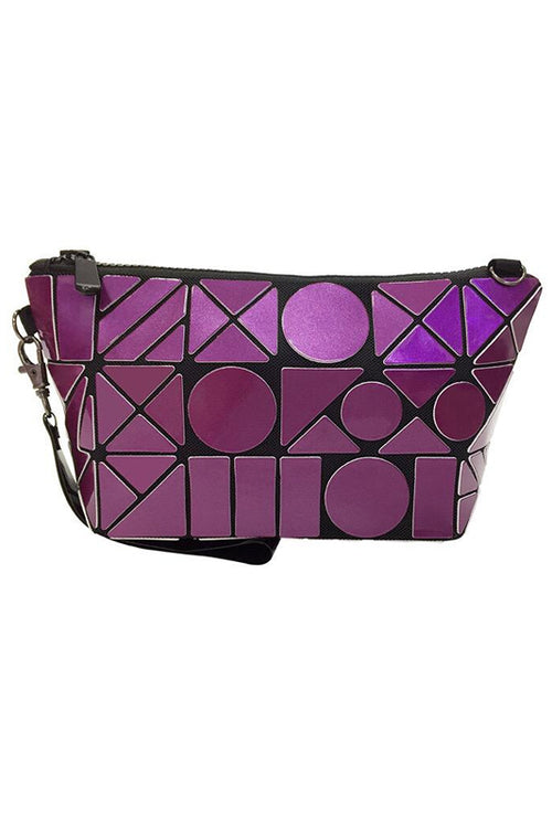 Purple Geometric Makeup pouch