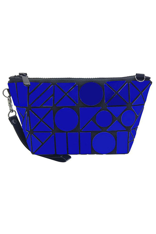 Blue Geometric Makeup pouch