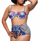Blue Prints High Waist Bikini
