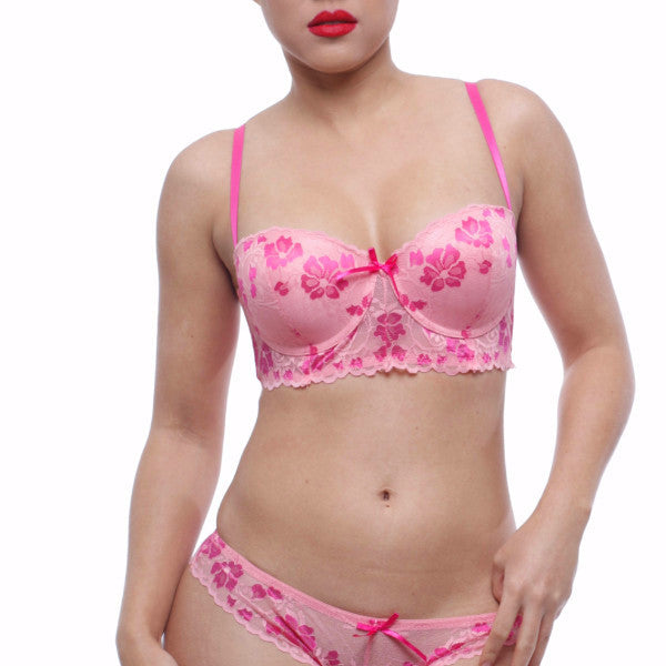 Pink Rose Bra Set