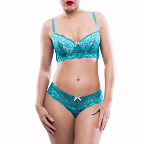 Blue Raspberry Bra Set