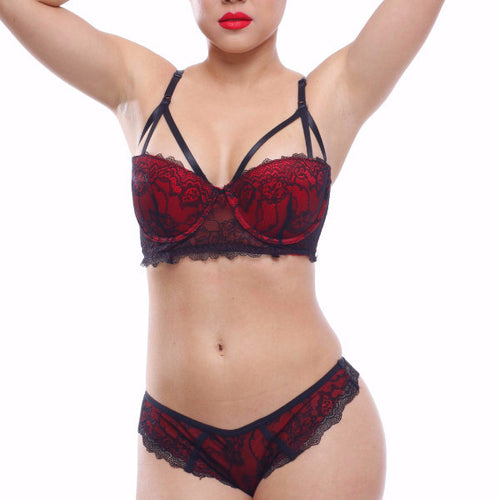Red Wine Bra Set