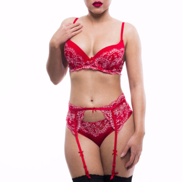 Red Vixen Bra Set