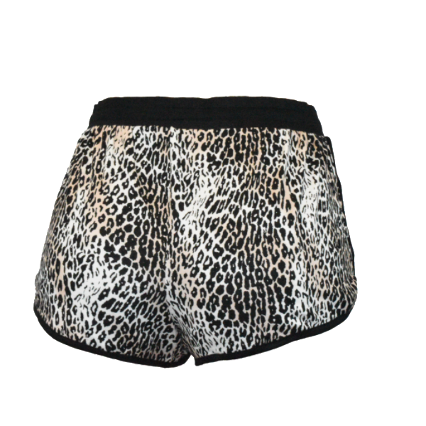 Amber Leopard Dolphin Shorts