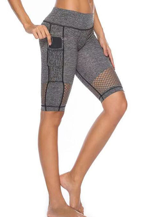 Pocket Mesh Biker Shorts