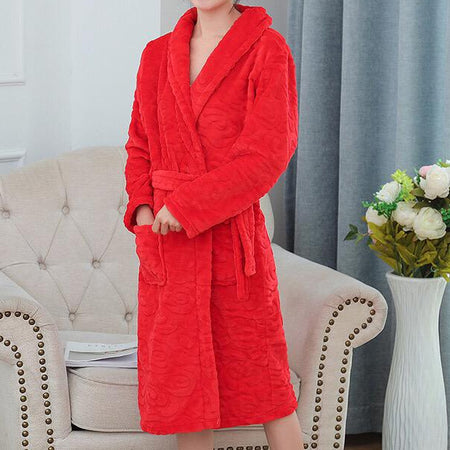 Red spice lace robe