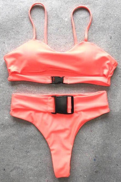 Buckle up two piece bikini