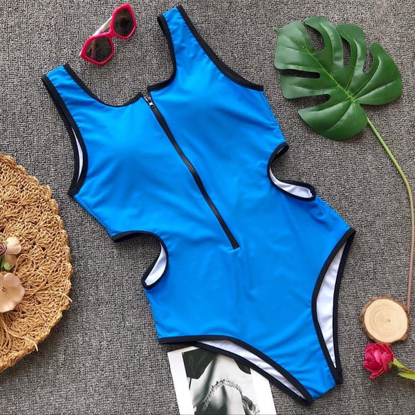 Astro One Piece swimsuit Blue