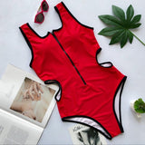 Astro One Piece swimsuit Red