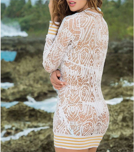 Golden Rim Lace Cover-Up