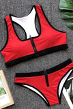 Two piece swimsuit Red