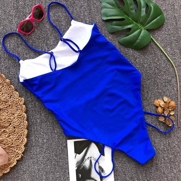 Swim Wear One Piece 053 Blue