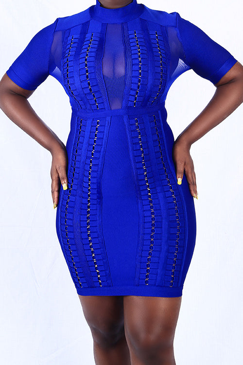 Blue Rings Bodycon