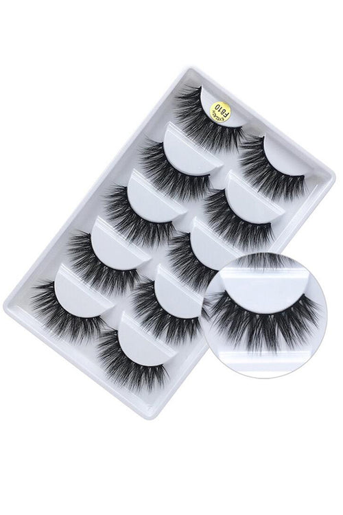 5 pack Mink Lash Set