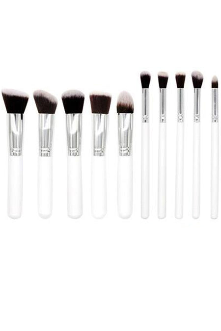 Black and Silver Foundation Brush