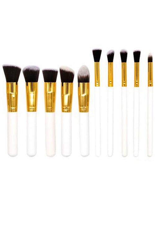 White and Gold Foundation Brush