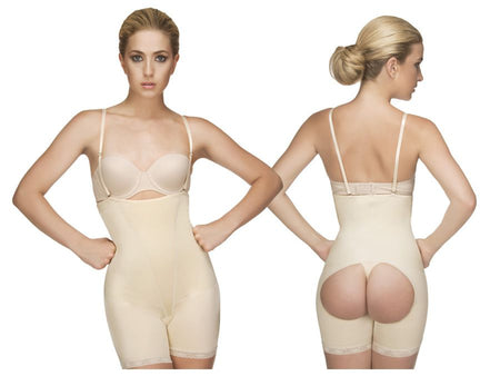 Tummy Tucker Front Zip (Nude)