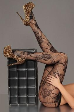 Floral Fishnet Tights