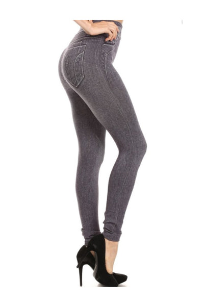 Grey Washed Jeggings