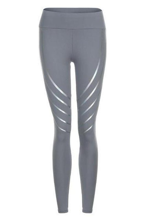 Grey Neon Lines Leggings