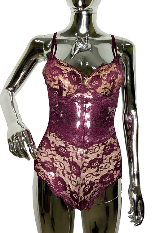 Purple Molded Bra bodysuit