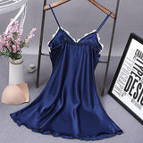 Lace Babydoll Nightdress Blue
