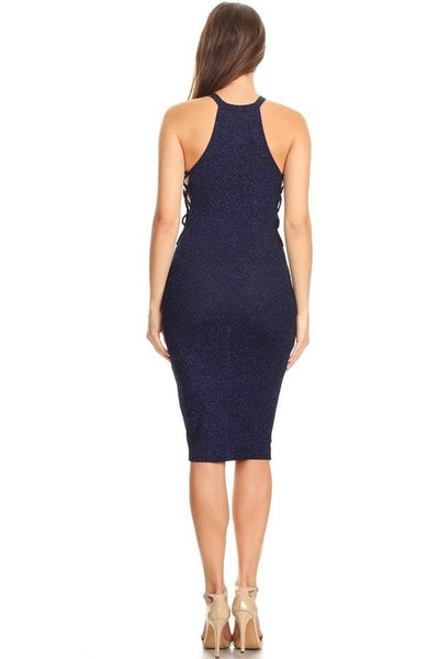 Sleeveless midi dress in a bodycon fit