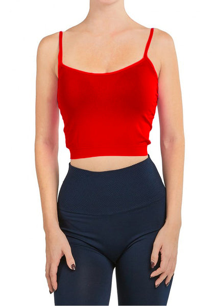 CROP TOP CAMISOLE RED