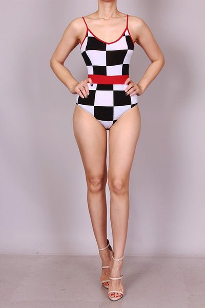 Black and White Racer Bodysuit