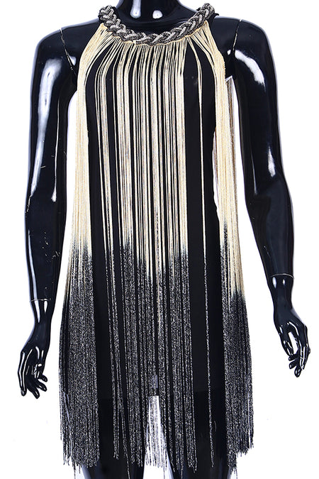 Black Vegas tassels dress