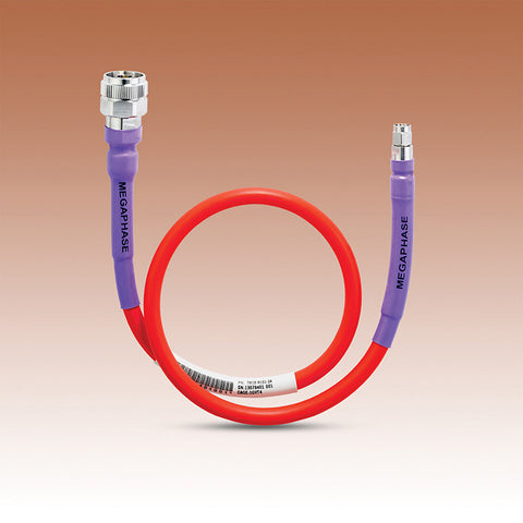 RF Orange® Bench Test Cable, Type N Male Hex Knurl, SMA plug, DC-18 GHz
