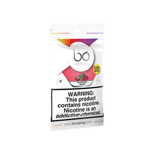 Bo Vaping Replacement Pods - Raspberry Wafer Caps