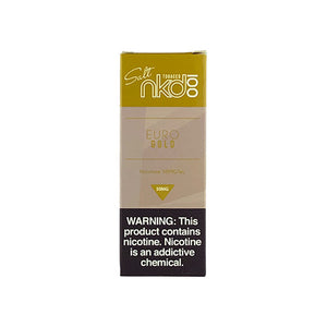Naked - Euro Gold, nicotine salt ejuice