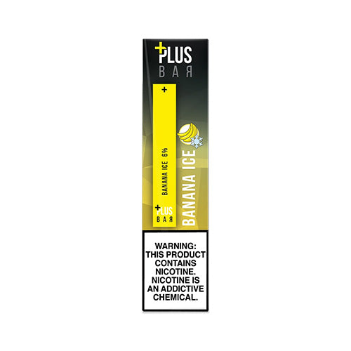 Plus Pods - Plus Bar - Banana Ice, disposable vape pod