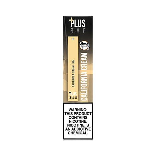 Plus Pods - Plus Bar - California Cream, disposable vape pod