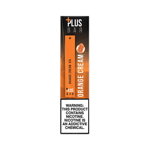 Plus Pods - Plus Bar - Orange Cream, disposable vape pod