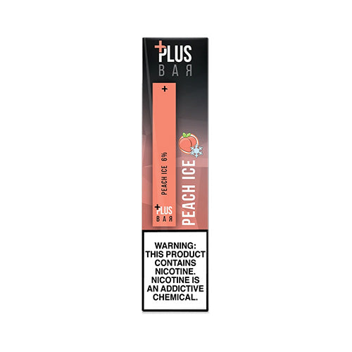 Plus Pods - Plus Bar - Peach Ice, disposable vape pod