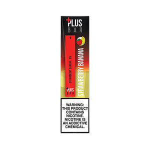 Plus Pods - Plus Bar - Strawberry Banana, disposable vape pod