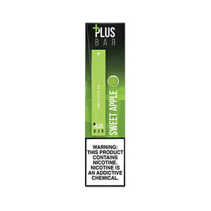 Plus Pods - Plus Bar - Sweet Apple, disposable vape pod