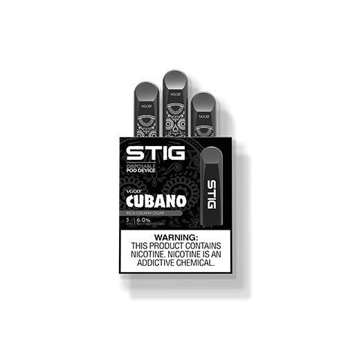 STIG - Cubano, disposable vape pod