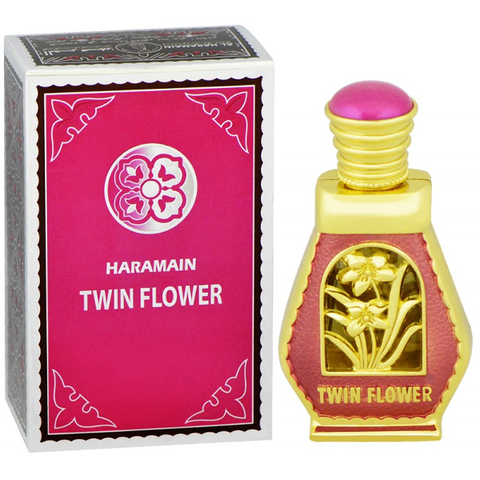 TWIN FLOWER by Al-Haramain, Arabian Attar, Itr Fragrance Oil 15 ML