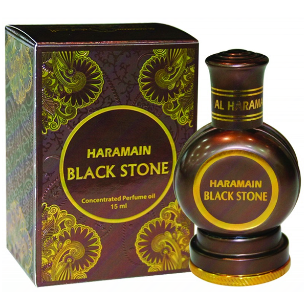 BLACK STONE by Al-Haramain, Arabian Attar, Itr Fragrance Oil 15 ML