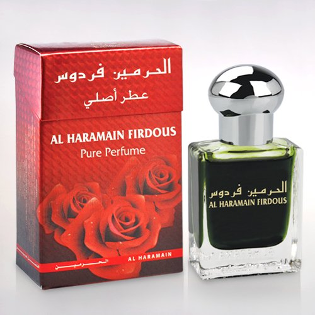 FIRDOUS by Al-Haramain, Attar, Itr, Fragrance Oil 15 ML