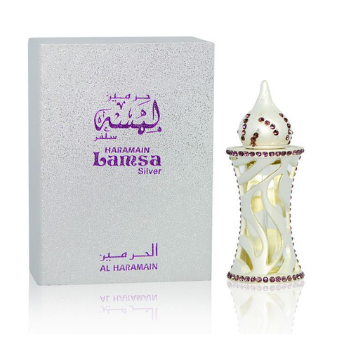 LAMSA SILVER by Al-Haramain, Arabian Attar, Itr Fragrance Oil 12 ML