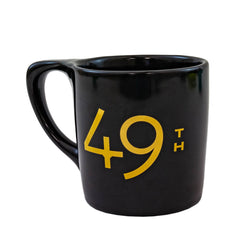 49th Parallel Black & Gold Ceramic 10 oz Mug - LIMITED EDITION