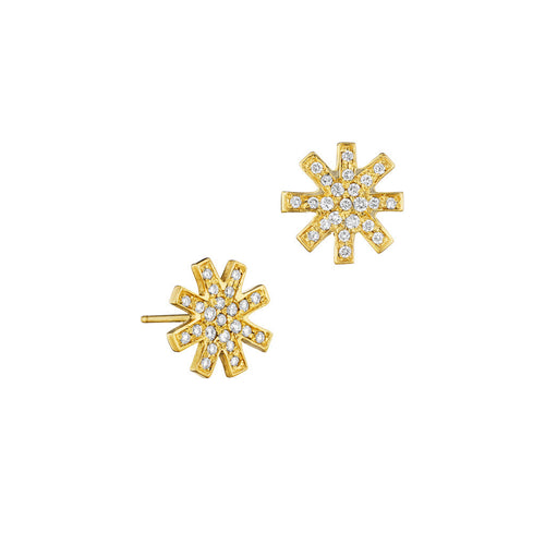 18k Distant Star Diamond Stud Earrings