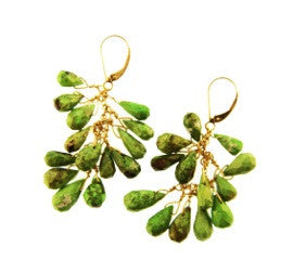 18K GOLD GASPIATE EARRING