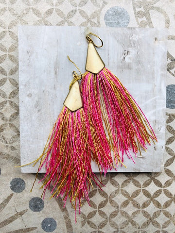 "18k plated ""Fringe is Fun"" Earrings"