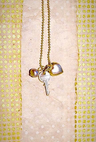 "Sterling Silver ""Key to my Heart Necklace"""